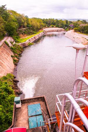 spillway: Landscape view of Kio Lom dam, Thailand Stock Photo
