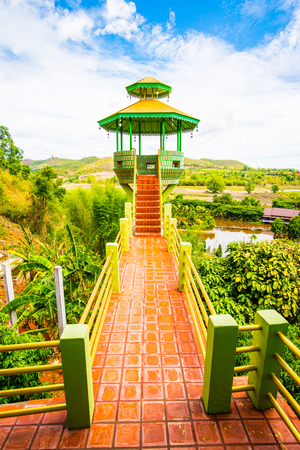 chiangrai: View Tower at Chiangrai Province, Thailand Stock Photo