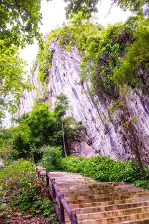 tourist attraction: Landscape view of Pratu Pha tourist attraction, Thailand