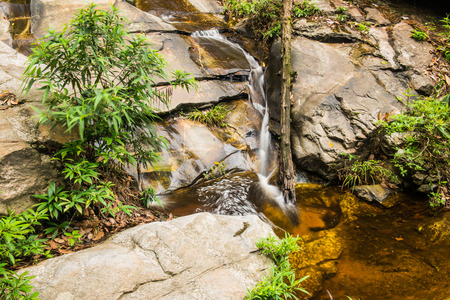 Monthathan waterfall in Chiangmai province, Thailand Stock Photo