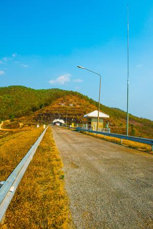 Road on Mae Ngat Somboon Chon dam, Thailand