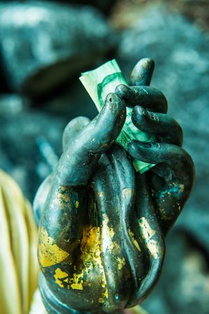 Hand of Buddha, Thailand Stock Photo