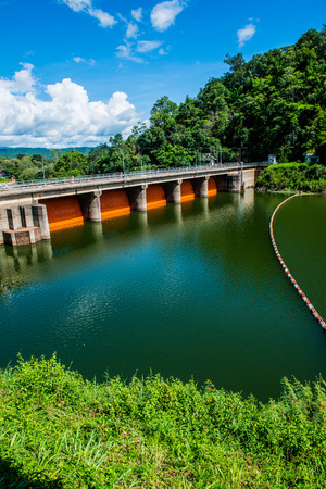 Landscape view of Kio Lom dam, Thailand Stock Photo