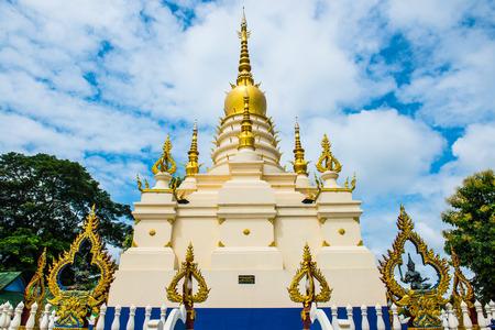 sua: White pagoda at Rong Sua Ten temple, Thailand
