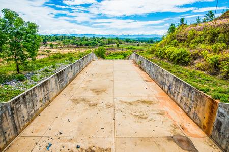 Spillway of Reservoir, Thailand