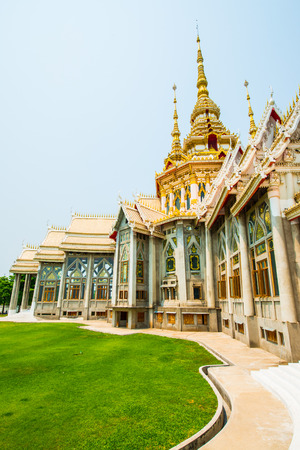 vihara: Beautiful Buddhist Sanctuary at Nakhon Ratchasima Province, Thailand Editorial