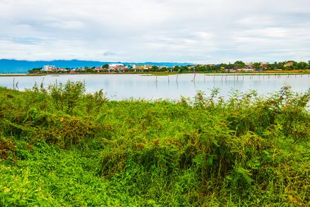 beside: The city beside Kwan Phayao lake, Thailand