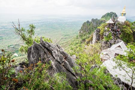 hill of the king: Pagoda on mountain at Chalermprakiat Prachomklao Rachanusorn temple, Thailand Stock Photo