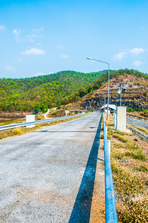 chiangmai province: Road on Mae Ngat Somboon Chon dam, Thailand