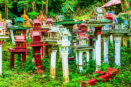 house with style: Thai style spirit house, Thailand Stock Photo
