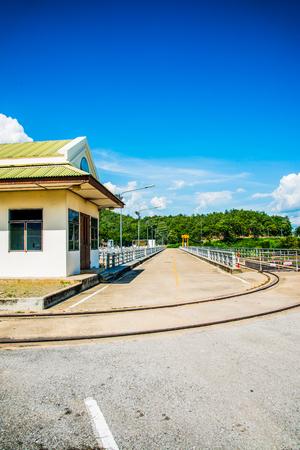 Rail Way and Site Office on Mae Ping Ton Lang Dam, Thailand. Kho ảnh