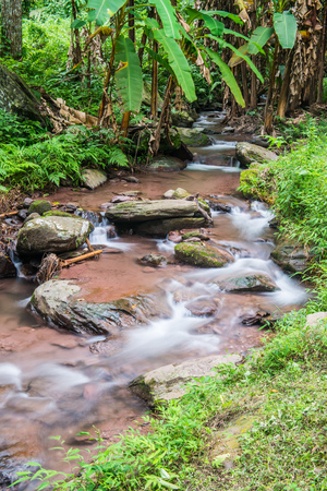 thong: Water Flowing in Champa Thong Waterfall, Thailand.