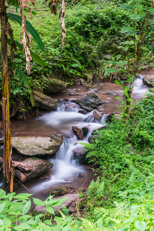 Water Flowing in Champa Thong Waterfall, Thailand.
