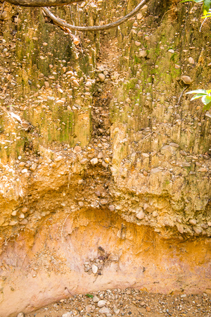 Background of soil layers, Thailand.