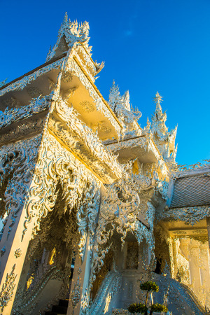Beautiful crematory of Rong Khun temple, Thailand.