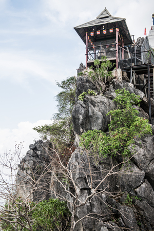 cave house: Rest house on cave at Lampang province in Thailand.