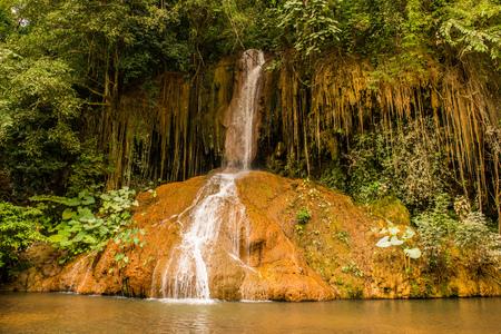 phu: Landscape view of Phu Sang waterfall, Thailand.