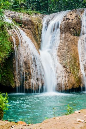 Tansawan waterfall in Doi Phu Nang national park, Thailand. Stock Photo