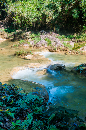 phu: Water flowing in Doi Phu Nang national park, Thailand. Stock Photo
