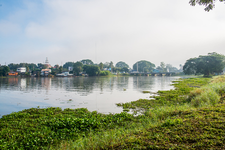 The city beside Phayao lake in winter season, Thailand. Stock Photo