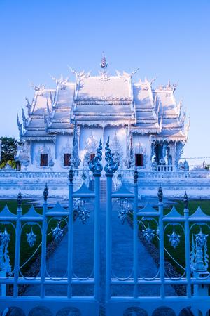 Beautiful Thai church at Rong Khun temple, Thailand.