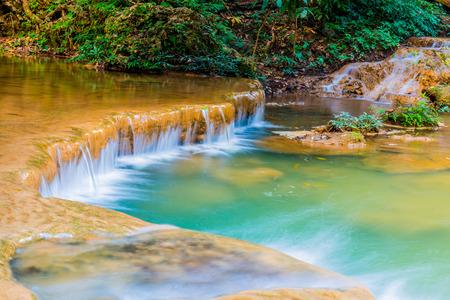 north cascade national park: Tansawan waterfall in Doi Phu Nang national park, Thailand. Stock Photo