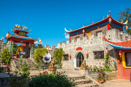 migrated: Chinese style building at Santichon village, Thailand. Editorial