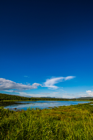 Landscape View of Mae Puem Reservoir, Thailand.
