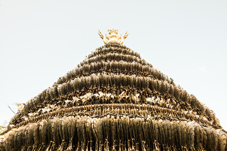 Pipal leaf for worship, Thailand. Stock Photo
