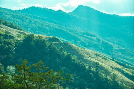 Mountain view at Chiangrai province, Thailand. Stock Photo