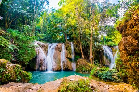 phu: Tansawan waterfall in Doi Phu Nang national park, Thailand. Stock Photo