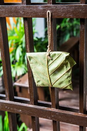 Teak leaf package, Thailand.