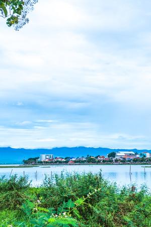The city beside Kwan Phayao lake, Thailand