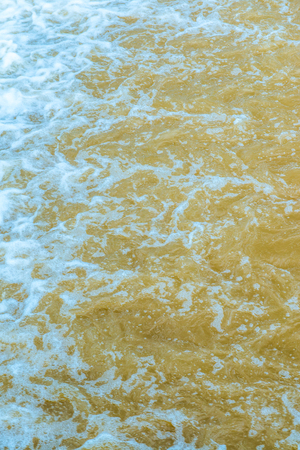 Background of water flowing, Thailand.