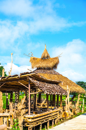 Thai country pavilion at Mae Hong Son province, Thailand.