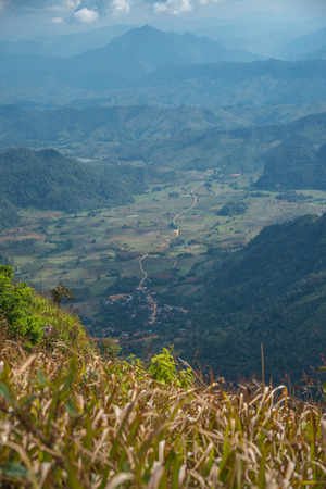 Top view on Phu Chi Fa at Chiangrai province, Thailand.