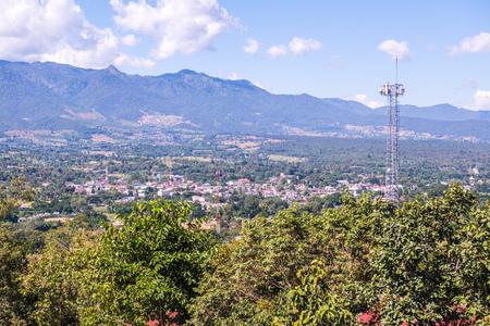 Landscape view of Pai city, Thailand. Stock Photo