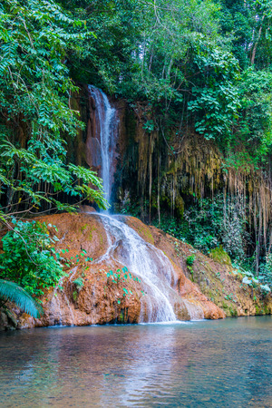 Landscape view of Phu Sang waterfall, Thailand.