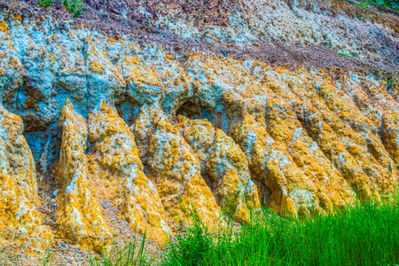 Background of beautiful soil layers in Thai, Thailand. Stock Photo