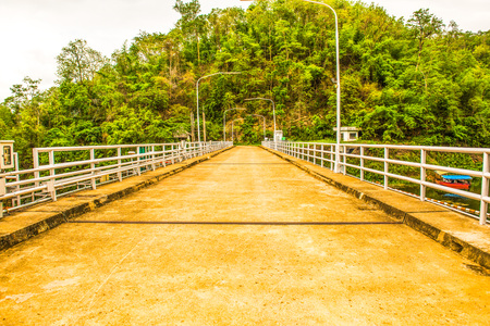 hydroelectric station: Concrete road on Kio Lom dam, Thailand