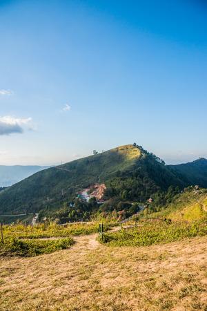 Mountain view of Doi Pha Tang at Chiangrai province, Thailand.