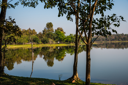 chiangmai province: Landscape view of Huay Tueng Tao lake in Chiangmai province, Thailand.