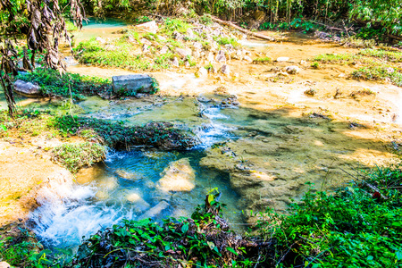 north cascade national park: Water flowing in Doi Phu Nang national park, Thailand. Stock Photo