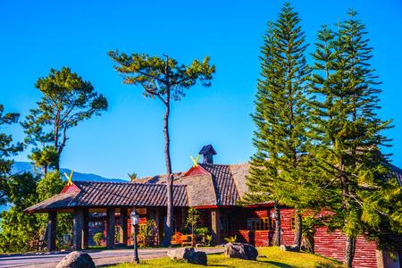 Doi Pha Tang Palace with Beautiful Park at Doi Inthanon National Park, Thailand.