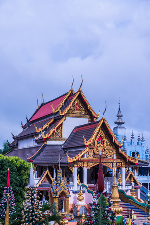Beautiful Church at Huai Sai Khao Temple, Thailand.