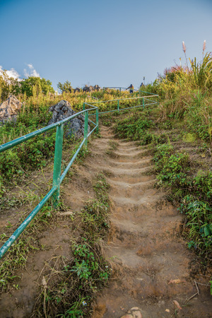 Walkway to Doi Pha Tang at Chiangrai province, Thailand.