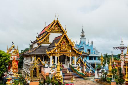 Beautiful Church at Huai Sai Khao Temple, Thailand.