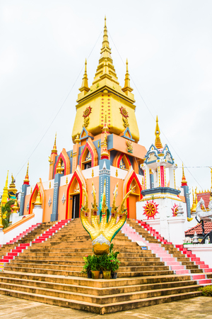 Beautiful Building at Huai Sai Khao Temple, Thailand.