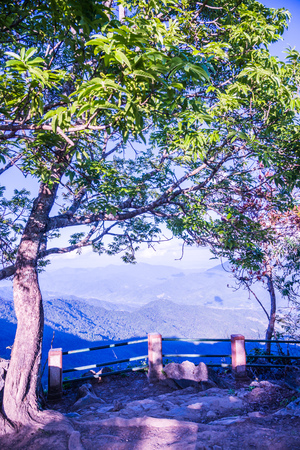 View point of Doi Pha Tang at Chiangrai province, Thailand. Stock Photo