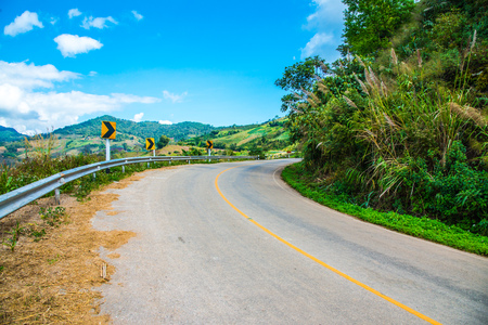 Road to Phu Chi Pa, Thailand. Stock Photo